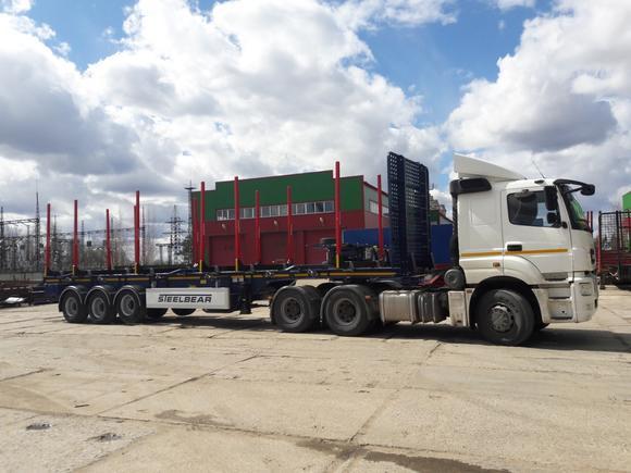 Полуприцепы сортиментовозы STEELBEAR отправляются в Новгородскую область